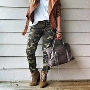 Zara Woman Camo Premium Denim Slim Fit Skinny